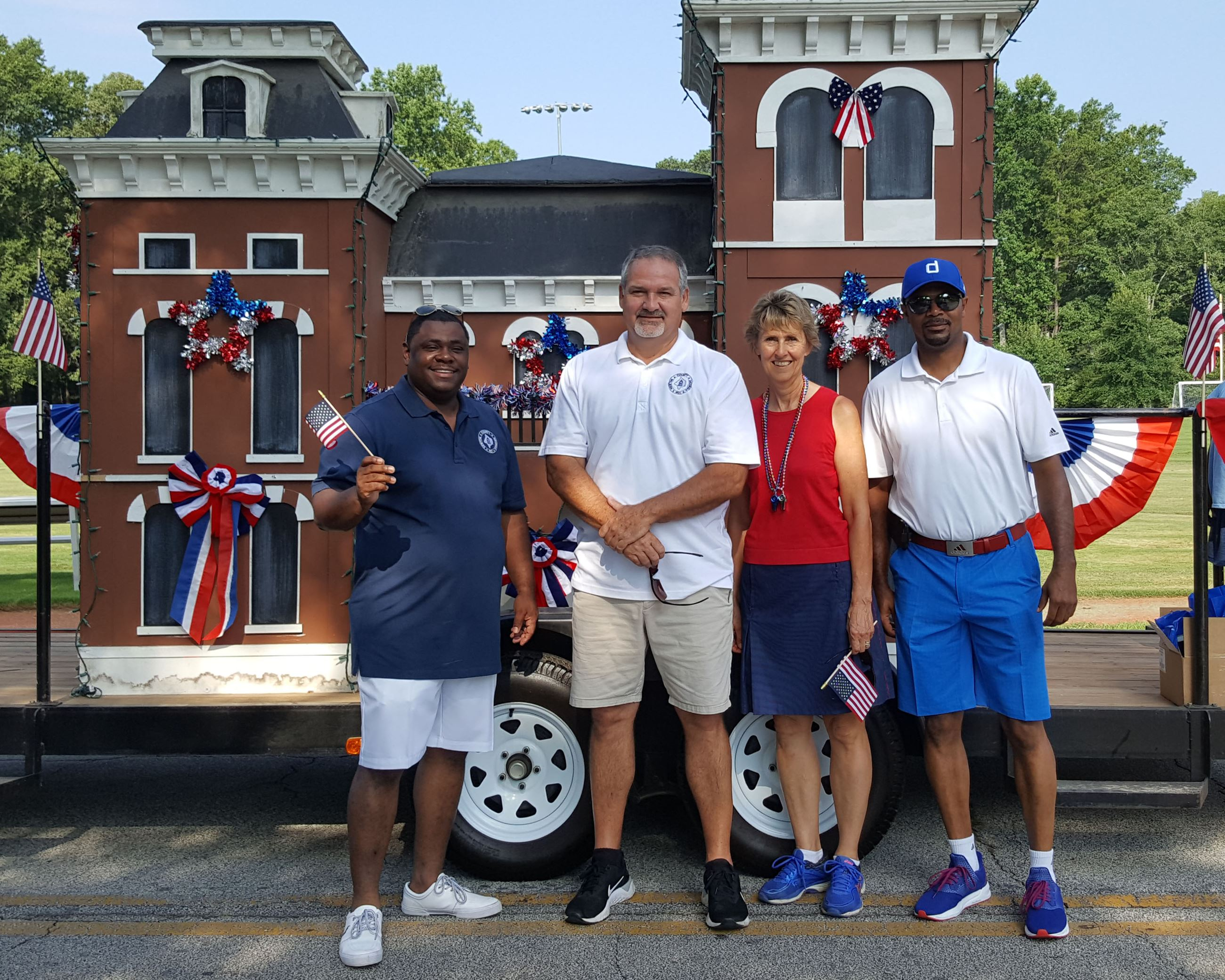 Image of Newton County Board of Commissioners at Oxford Parade