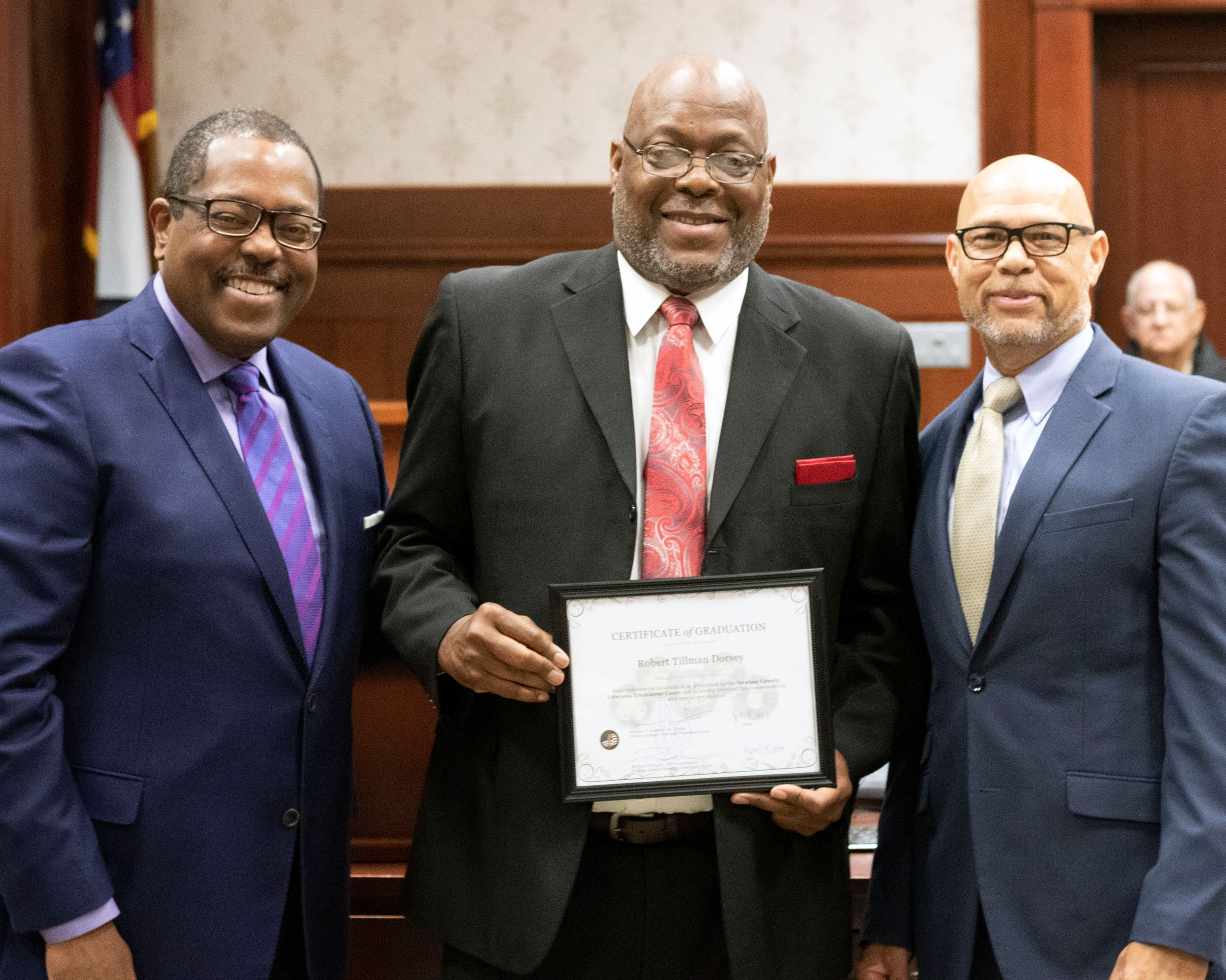 Image of Judge Horace Johnson, Robert Dorsey and Richard Kringer