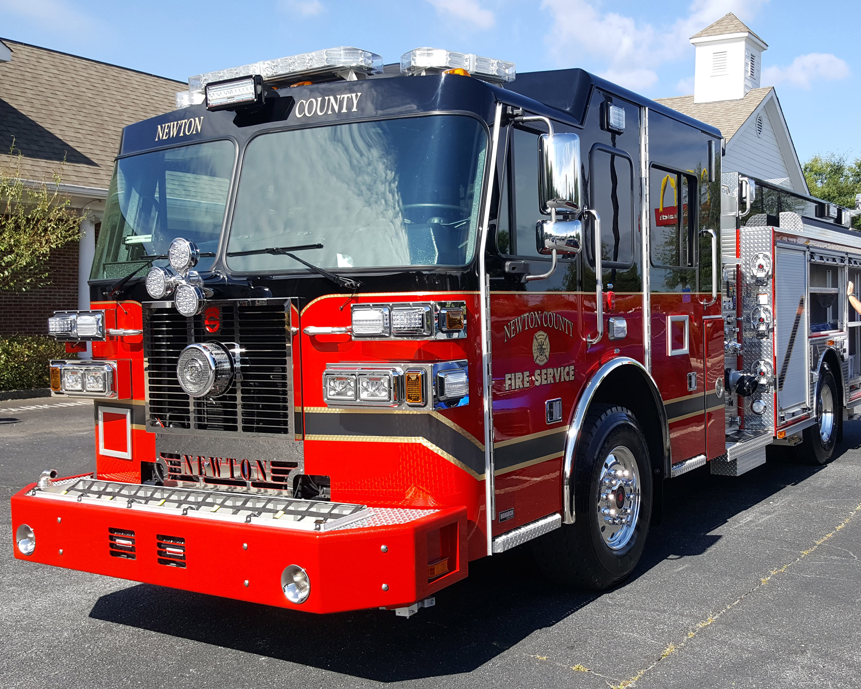 Image of New Fire Engine From Front