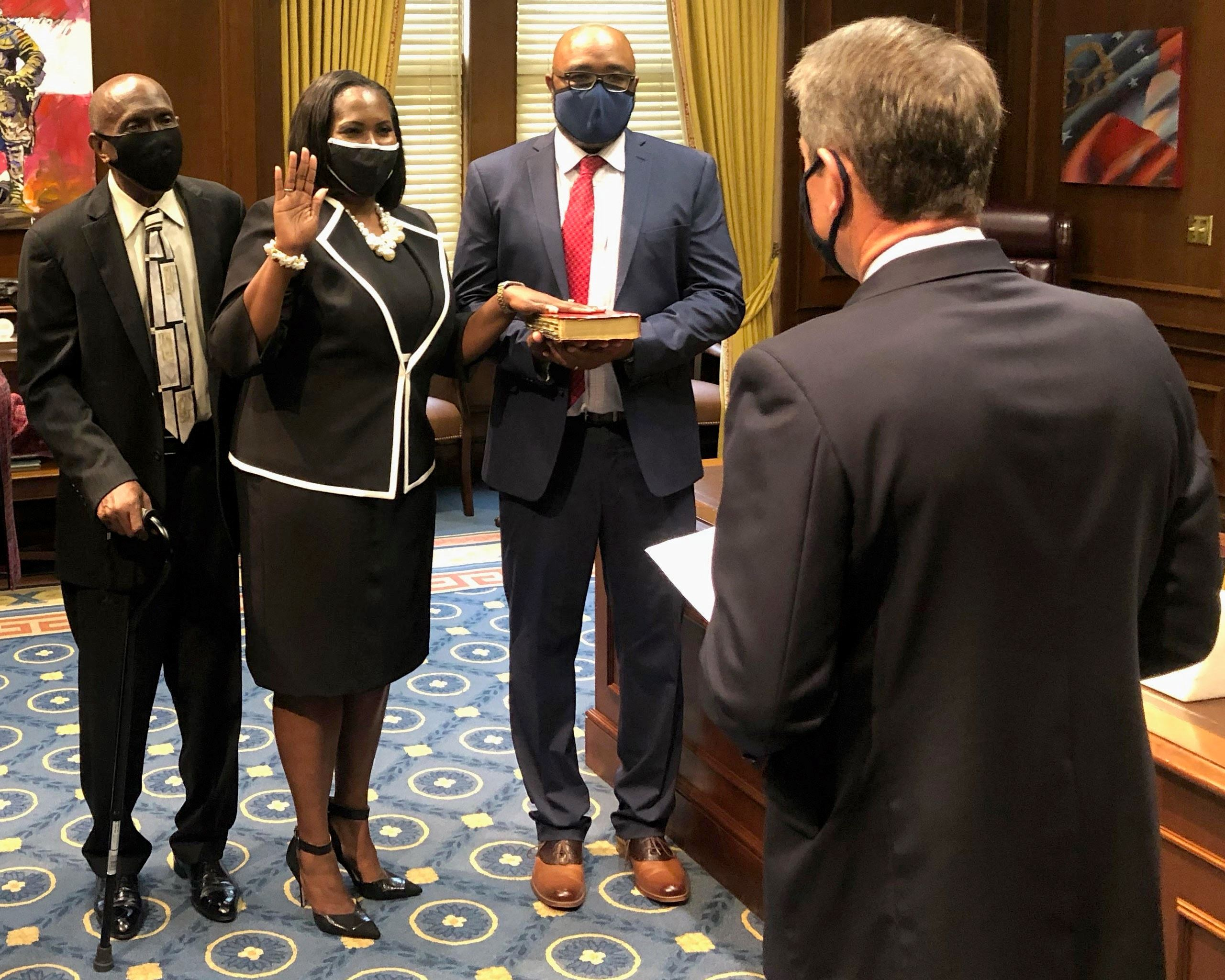 Image of Cheveda McCamy Sworn In