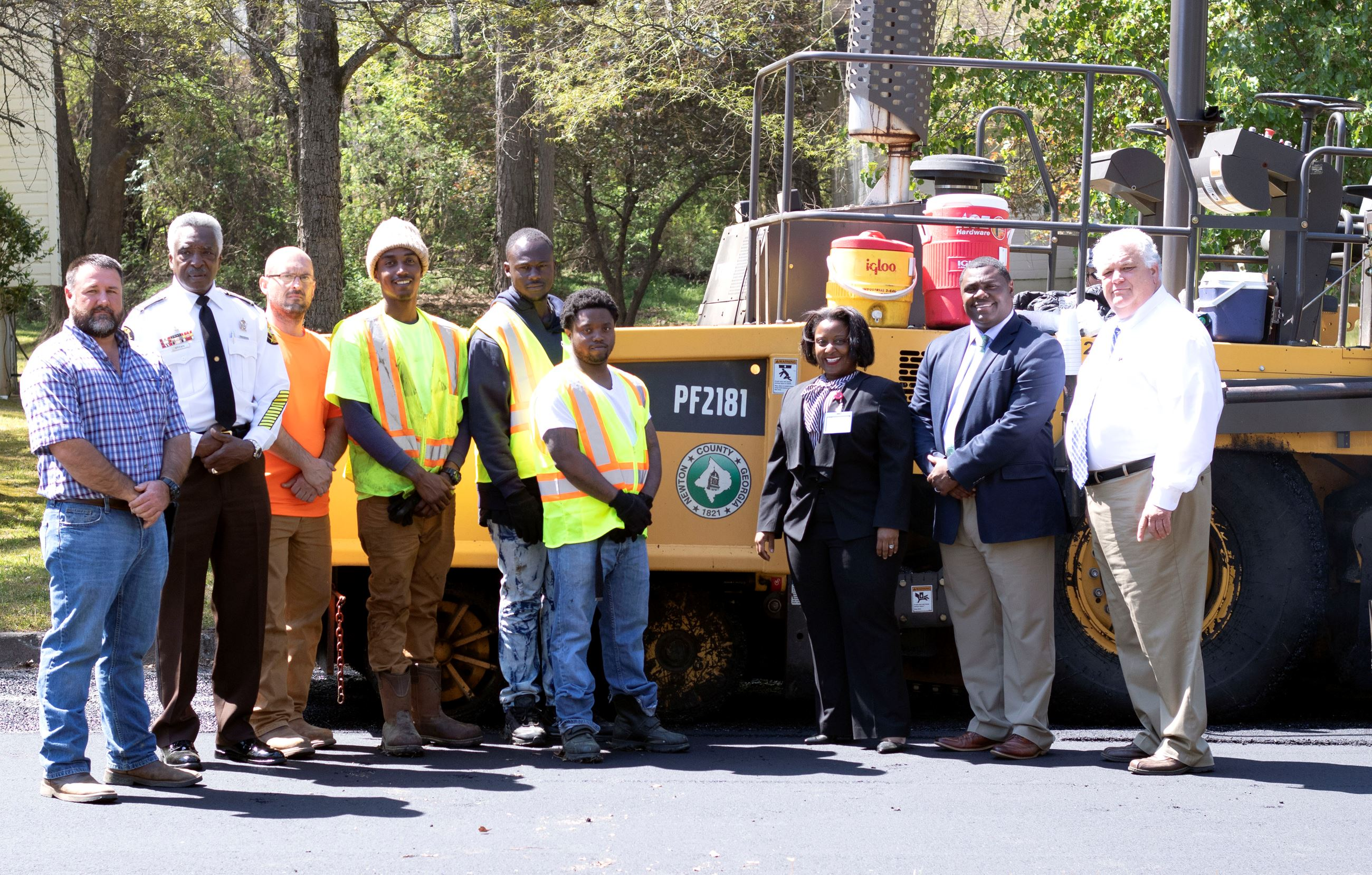Image of Recent RSAT Graduates are working for Newton County's Public Works Department