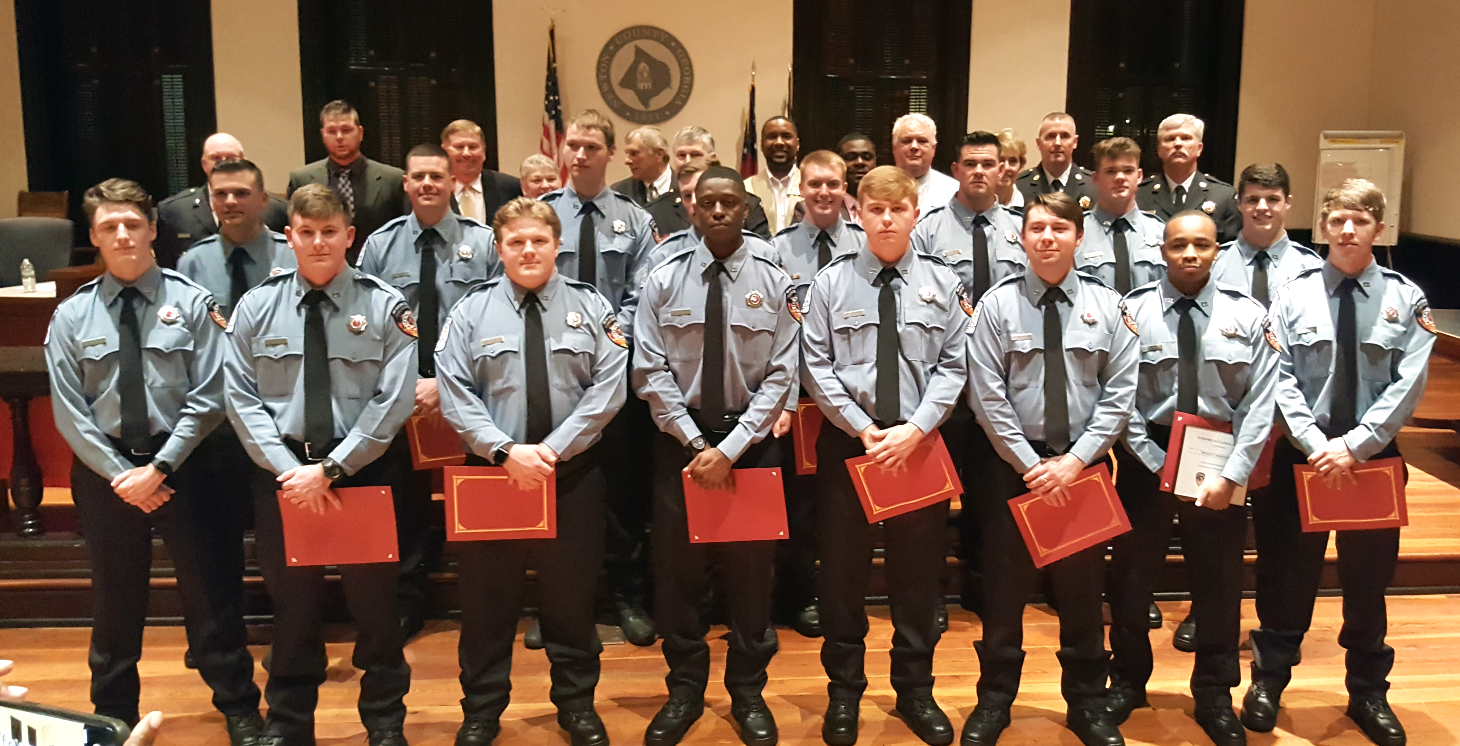 Image of Newton County Fire Services Recruits sworn in