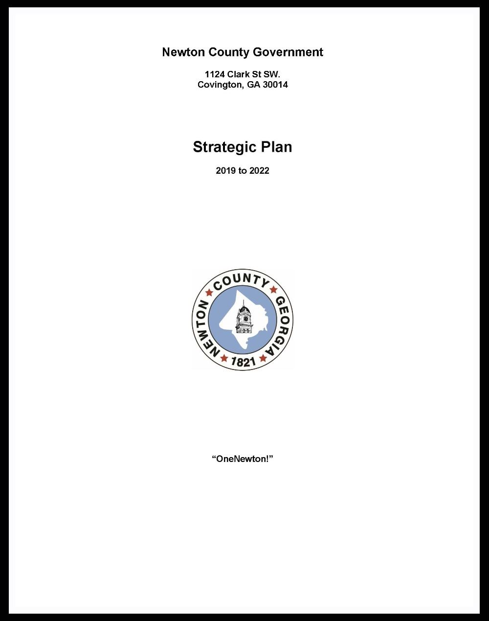 Newton County-Final Strategic Plan for the BOC page 1 border