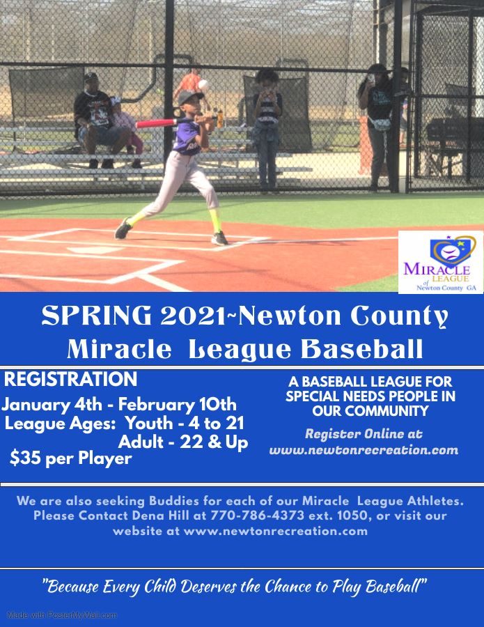 2021 Miracle League Registration Flyer